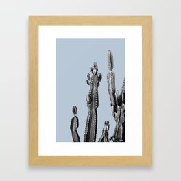 blue cactus friend Framed Art Print
