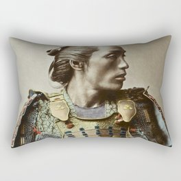 Kusakabe Kimbei - Samurai - Vintage Photo Rectangular Pillow