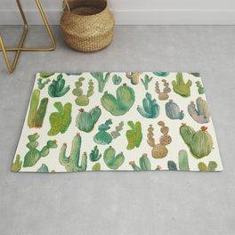 Cactus Watercolor Pattern Rug