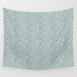 diamond painted-blue Wall Tapestry