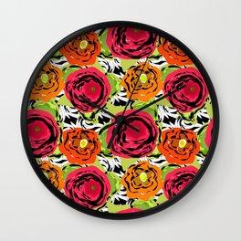 Abstract roses 1 Wall Clock
