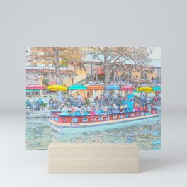 Ride Down The River - San Antonio, Texas Mini Art Print