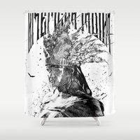 american Shower Curtains featuring American by jones C @Hong Kong