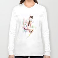 ballerina Long Sleeve T-shirts featuring ballerina by tatiana-teni