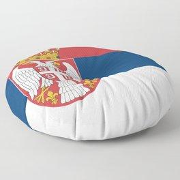 Flag of Serbia - Serbian Flag Floor Pillow