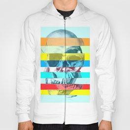 Striped Glitch Skull Hoody