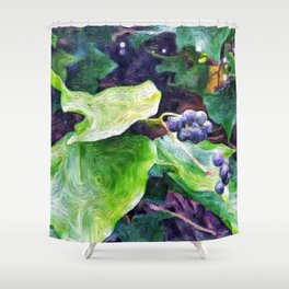 Ivy Berries Shower Curtain