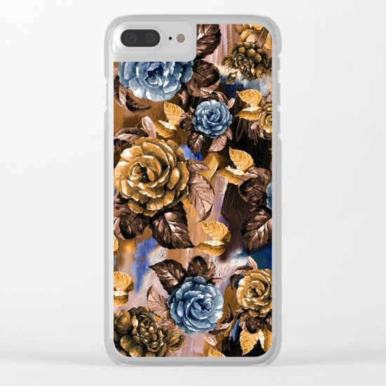 Flowers wint Watercolors Clear iPhone Case