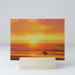 The Love Between a Guy and His Surf Board by Reay of Light Mini Art Print
