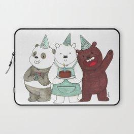 We Bare Bears inspired Birthday Party - Panda, Ice Bear, Grizzly Bear Laptop Sleeve