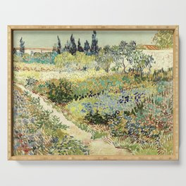 Vincent Van Gogh : Garden at Arles Serving Tray