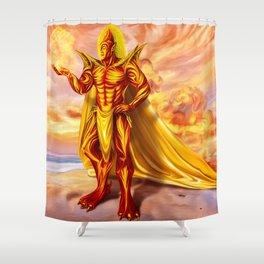 Dwain God of fire Shower Curtain