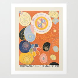 Hilma af Klint. Exhibition poster for The Louisiana Museum of Modern Art in Humlebæk, 2014. Art Print