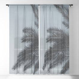 Palm Leaves Sunset Beauty #1 #tropical #decor #art #society6 Sheer Curtain
