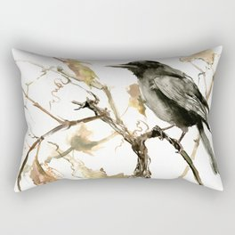 Crow in the Fall Rectangular Pillow