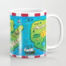 Old pirate's map Coffee Mug
