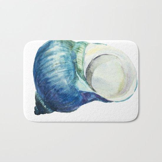 Blue Shell Bath Mat