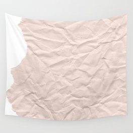crumpled paper. Kraft paper Wall Tapestry