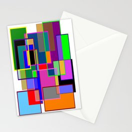 Colour collage white Stationery Cards