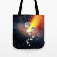 sci fi Tote Bags featuring Sci-Fi Space Universe by  Agostino Lo Coco
