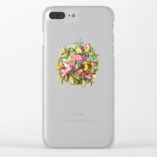 Flowers and Birds 1 Clear iPhone Case