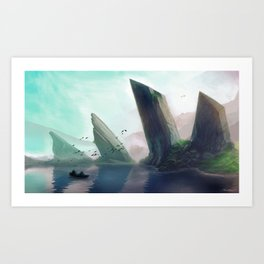 Dragonspine Lake Art Print