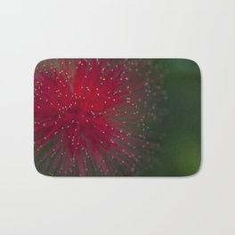 Macro photograph of the Calliandra flower. Bath Mat