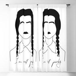 Wednesday Addams Art Blackout Curtain