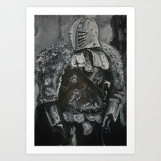 Winter Knight Art Print