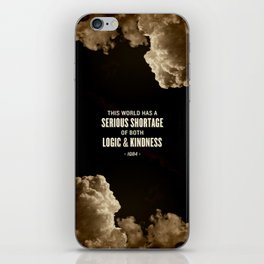 Logic and Kindness iPhone Skin