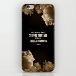 Logic and Kindness iPhone Skin