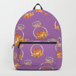 Circles on Purple Backpack