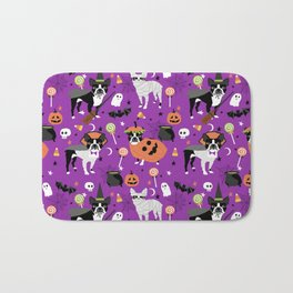 Boston Terrier Halloween - dog, dogs, dog breed, dog costume, cosplay cute dog Bath Mat