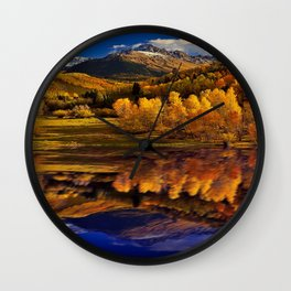 Autumn Mountain Landscape Wall Clock