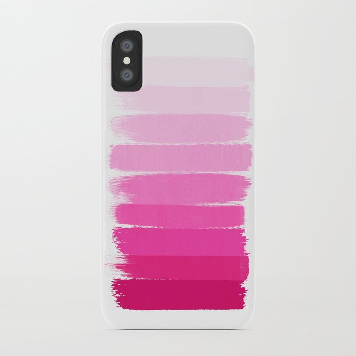 657761b6f4 Luca - Ombre Brushstroke, pink girly trend art print and phone case for  young trendy girls iPhone Case