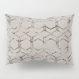 Silver Geometric Art Deco - Gatsby Taupe Pillow Sham