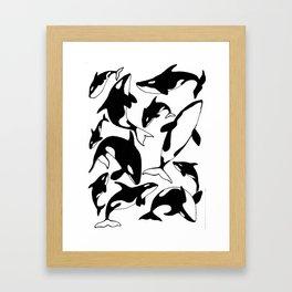 killer whales Framed Art Print