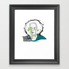 Doc Brown_INK - Back to the Future Framed Art Print