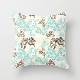 Baroque ornament. Classic design in luxury style Throw Pillow