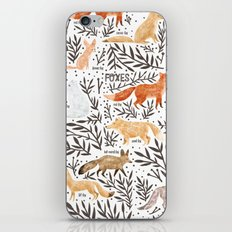 Foxes Field Guide iPhone & iPod Skin