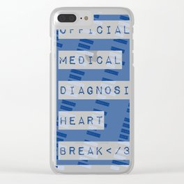 HEART</3BREAK blue Clear iPhone Case