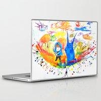 donnie darko Laptop & iPad Skins featuring Donnie Darko - Nice Day by Ayemaiden