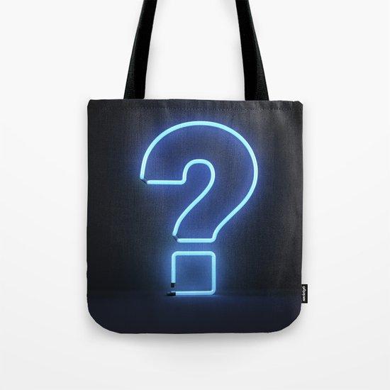 Question Mark (Neon) Tote Bag