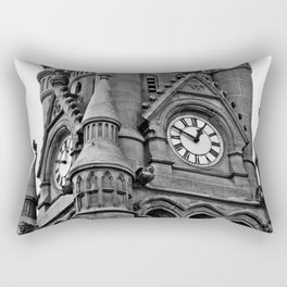 B&W Clock Tower Rectangular Pillow