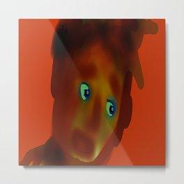 Big Eyes Boy, by Mickeys Art And Design Metal Print