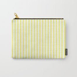 Vertical Lines (Yellow/White) Carry-All Pouch