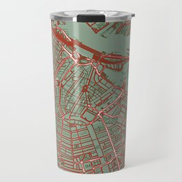 Amsterdam city map pop Travel Mug