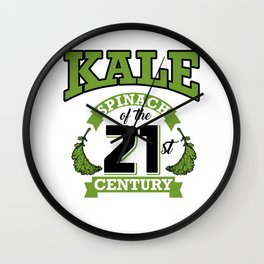 Kale Spinach of the 21st Century Kale Art for Vegans Light Wall Clock