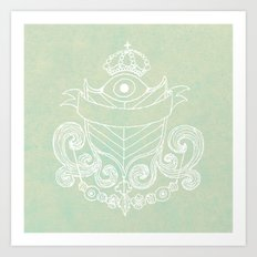 The Evil Eye Emblem  Art Print