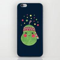 hippie iPhone & iPod Skins featuring Hippie Pear by haidishabrina